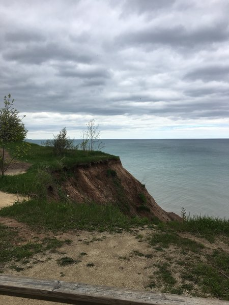 A view along the bluffs at Lion's Den Gorge Nature Preserve.