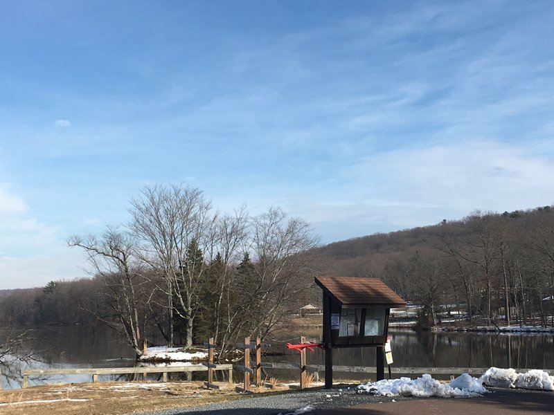The trailhead on Hopewell Lake doesn't house the most scenic parking lot in February, but the trail makes up for it!