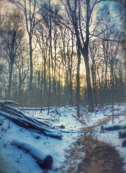 The Boone Trail takes on a new beauty in the winter.