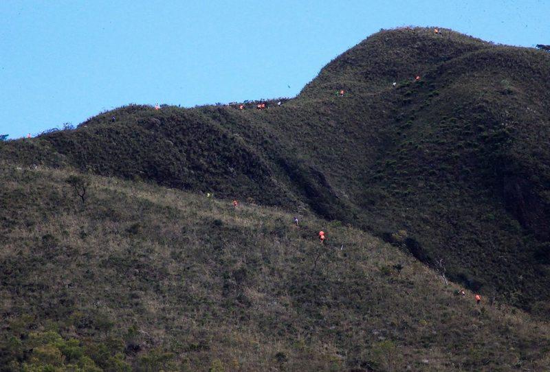 Making the climb up the Cabeça de Cachorro Trail.