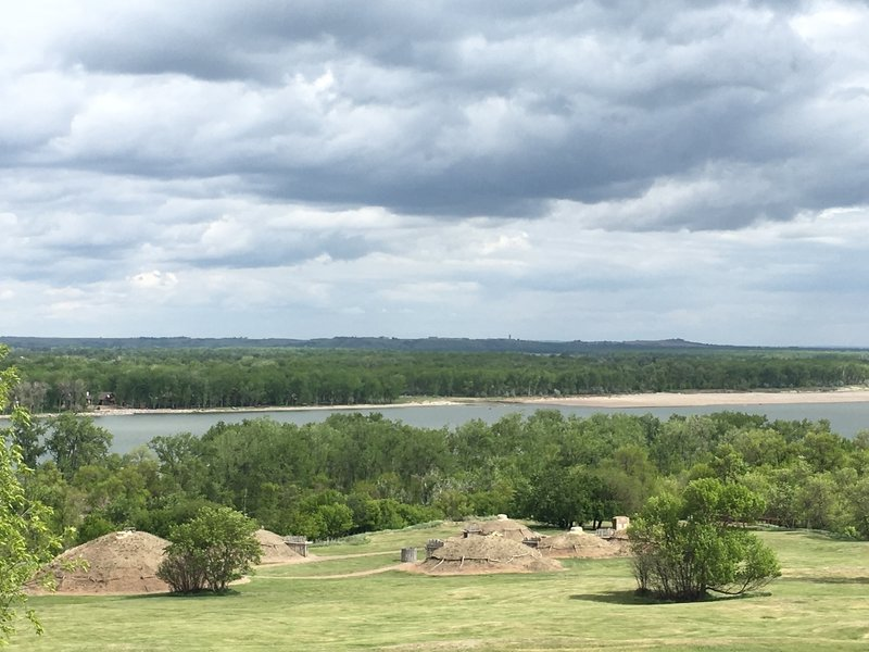 Enjoy great views of the reconstructed earthlodge village and Missouri River from the Little Soldier Loop.