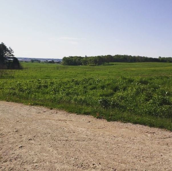 Enjoy beautiful views of the fields and Fox River from the Badger Trail.