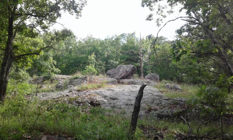 Glade outcrop along the Ozark Trail.