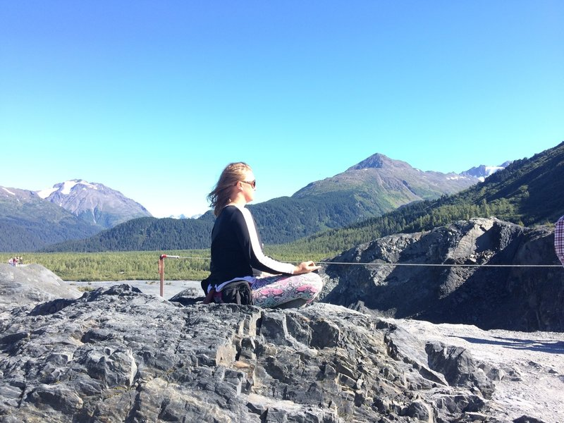 Exit Glacier Lookout is a great place to take some time to yourself and enjoy your surroundings.