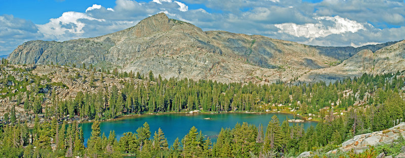 Bear Lake and Haystack Peak pose in the noonday sun. This very remote lake is one of my favorites.