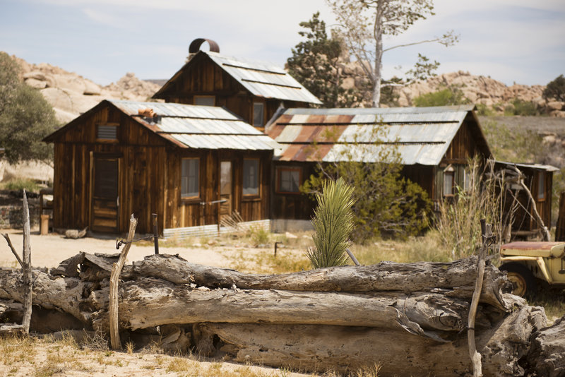 The rustic Ranch House sets quite a scene at Keys Ranch. Photo credit: NPS/Hannah Schwalbe.