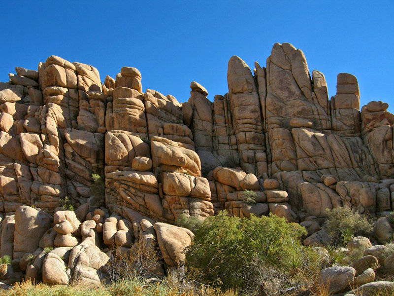 Complex rock formations surround the Willow Hole Trail. Photo credit: NPS/Robb Hannawacker.
