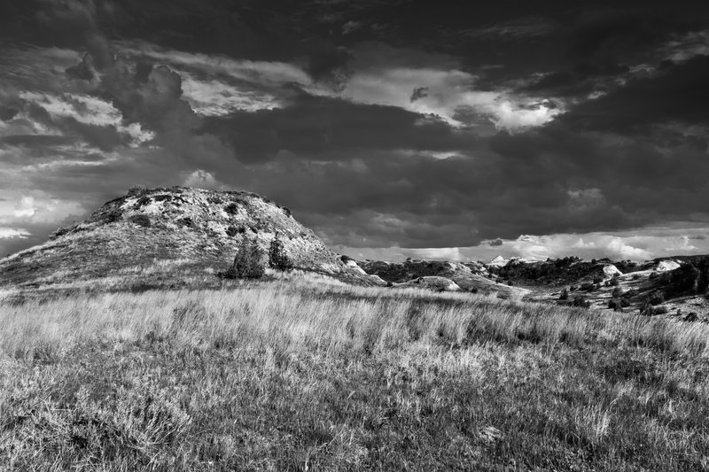 Clouds form over the Badlands Spur at Theodore Roosevelt National Park.