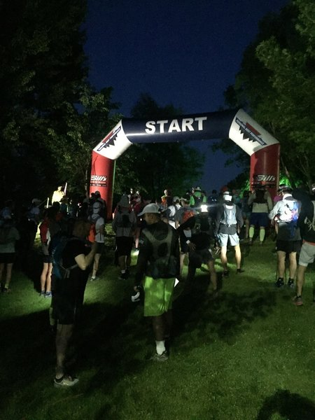Starting line (Actually taken during the start of the 108K) It is light at the 50k start.
