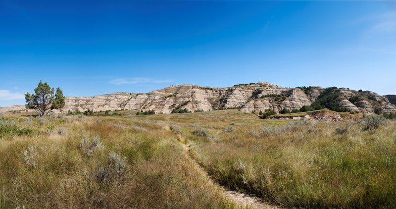 The Buckhorn Trail provides ample views of open space as you travel. Photo credit: NPS/Laura Thomas.