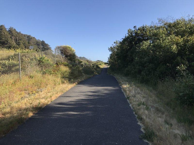 The paved Hammond Trail near Clam Beach.