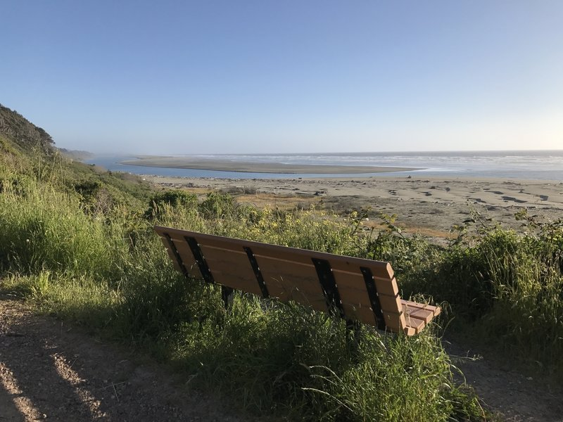 Occasional benches make good spots to stop and enjoy the views or catch your breath.