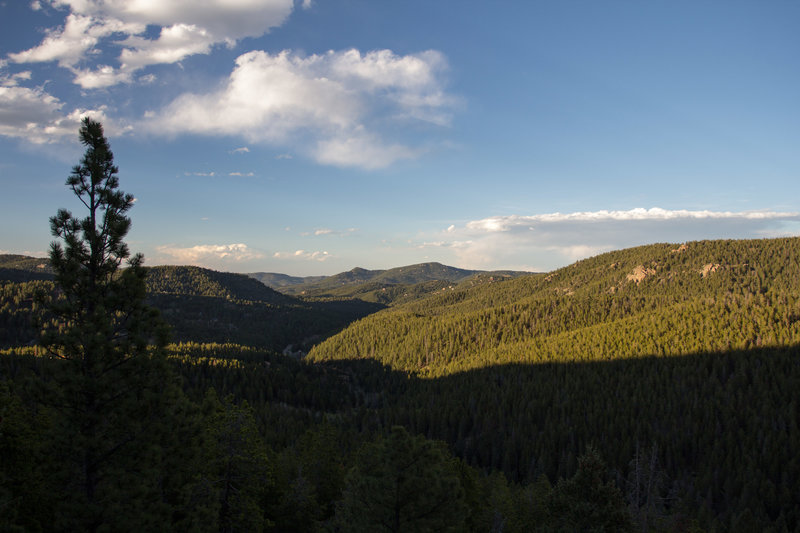Enjoy beautiful views from the overlook on Cliff Loop Trail late in the afternoon.