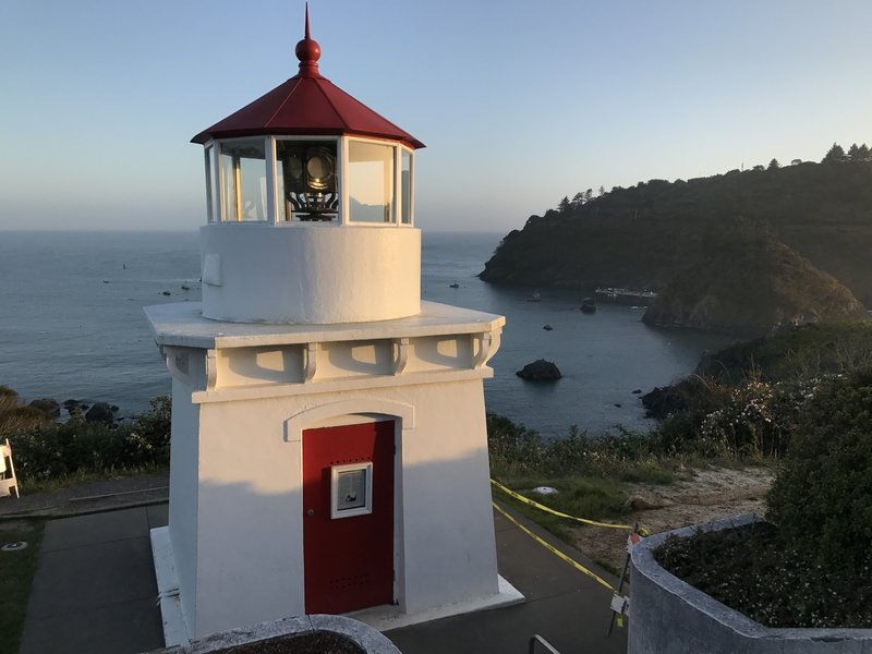 Trinidad Memorial Lighthouse at Old Home Beach trailhead.
