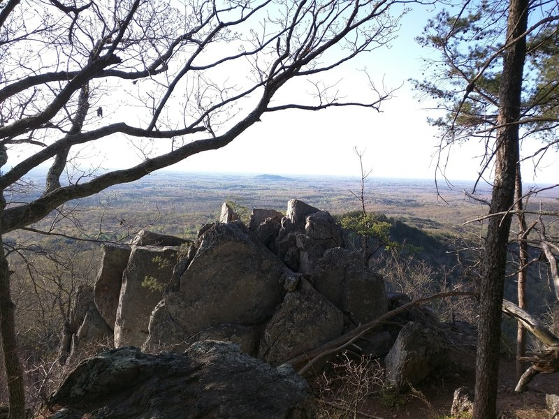 There's a nice view at the overlook near the boulder access.