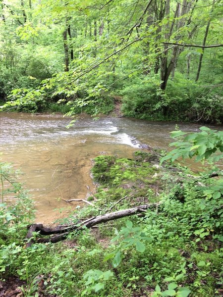 This is the first crossing of Big Pipe Creek.