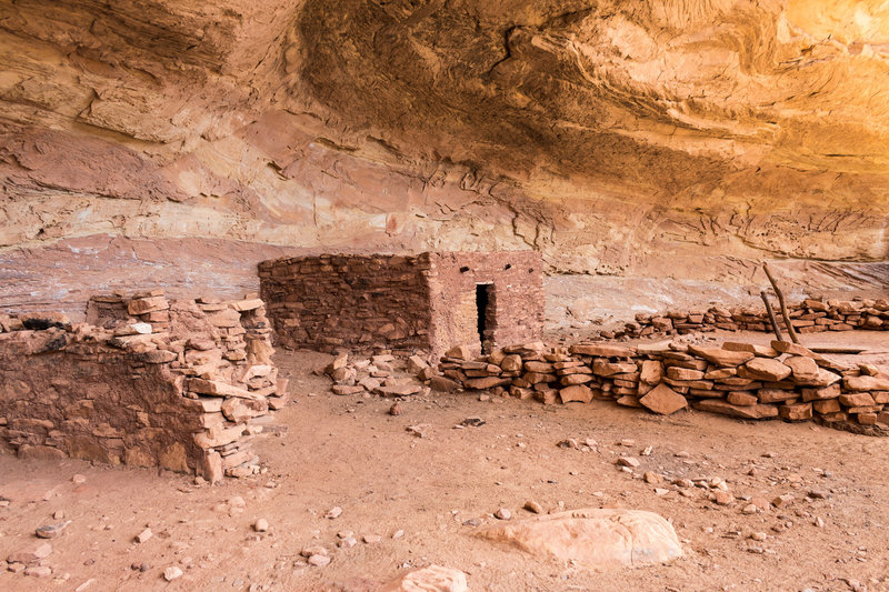 Dwellings are still well preserved at the Perfect Kiva.