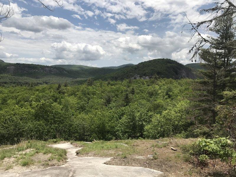 Panthertown Valley provides pleasant views toward Green Mountain.