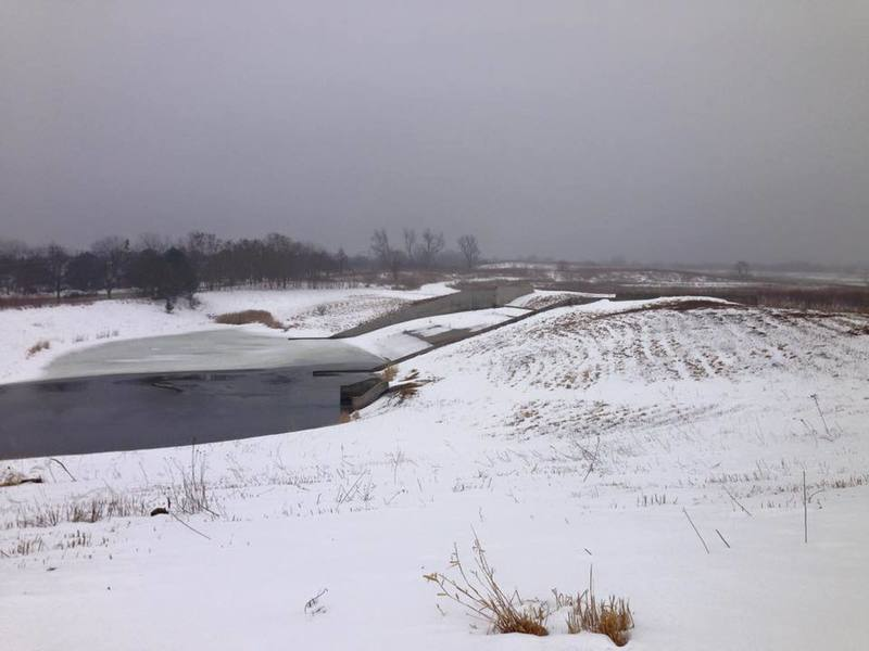 A winter Buffalo Creek is quite beautiful near the reservoir.
