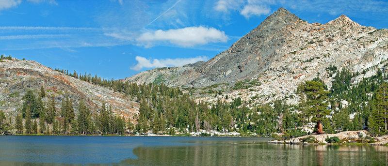 Black Bear Lake and Bigelow Peak create a beautiful backcountry scene.