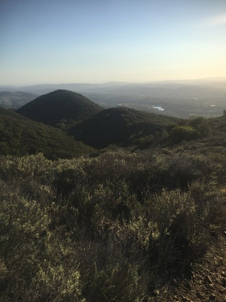 Experience great views looking out toward South Orange County along the way to Bell Peak.