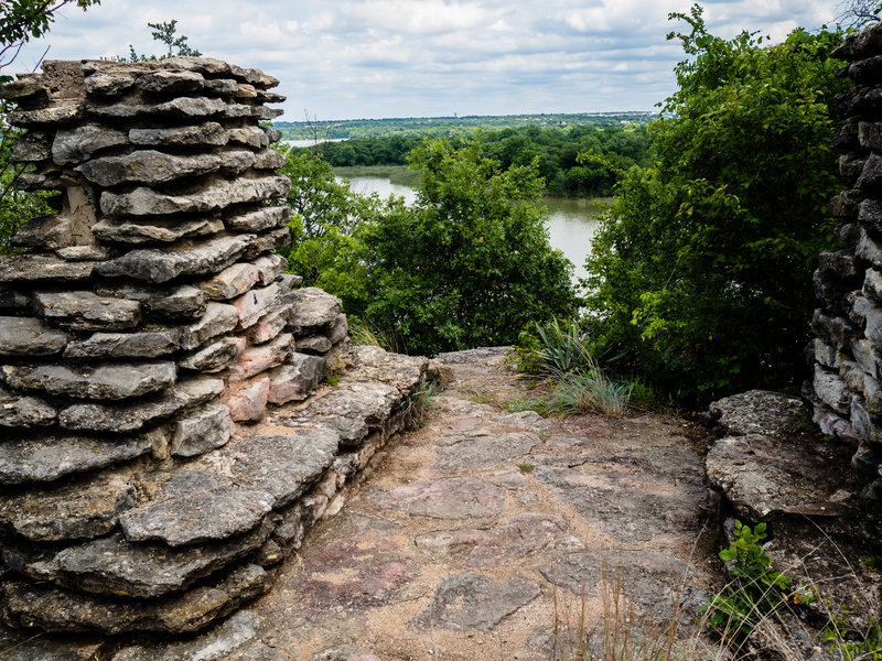 Enjoy phenomenal views from the CCC structure at Lone Point Overlook along the Canyon Ridge Trail.