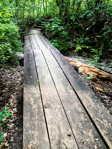 This is one of the many footbridges along the Canyon Ridge Trail.
