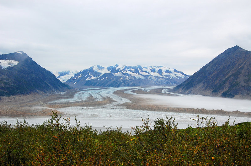 The glacier views in this area are just astounding.