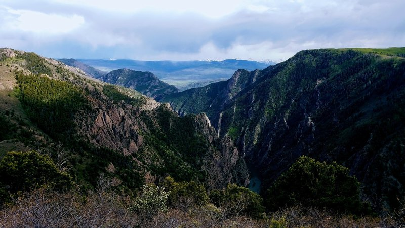 Enjoy gorgeous visuals of Black Canyon almost immediately after starting down the Crystal Creek Trail.
