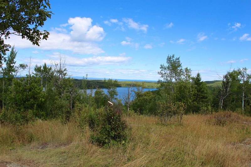 Catch a glimpse of Lake Desor from the Greenstone Ridge Trail.