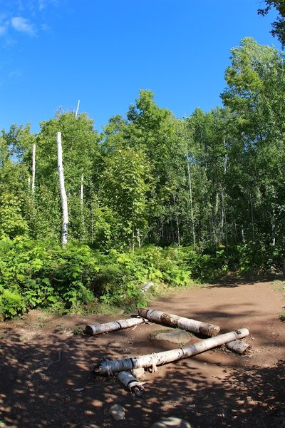 An empty campsite waits for a visitor at South Lake Desor Campground.
