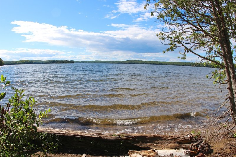 From the campground, enjoy wonderful views looking out across Lake Desor.