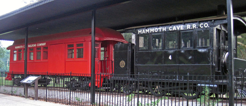 Locomotive No. 4 is the only remaining engine from the Mammoth Cave Railroad. | Copyright James St. John (goo.gl/71SzIw) under CC BY-2.0 (https://creativecommons.org/licenses/by/2.0/) Photo was unchanged.