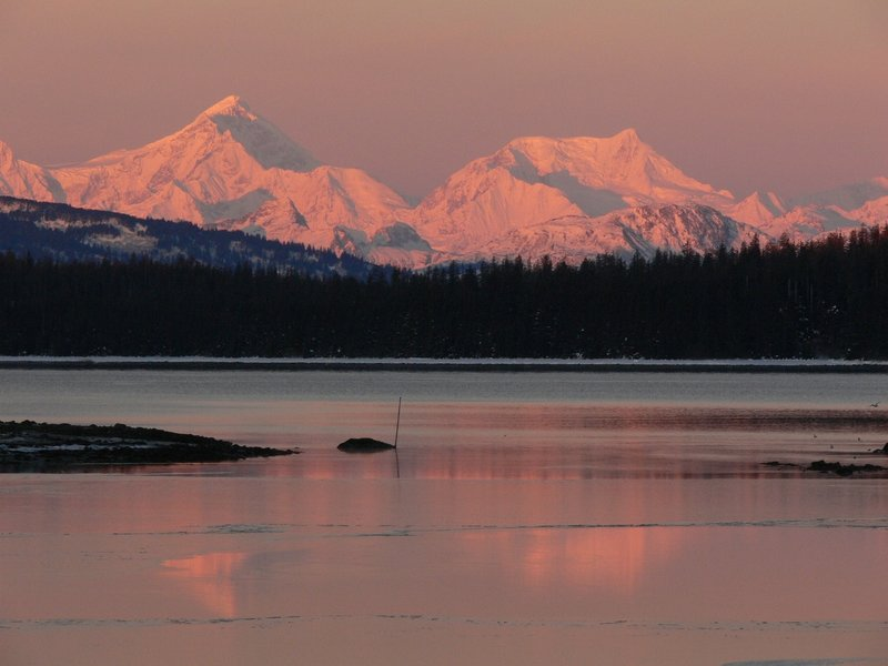 The Beach Trail provides beautiful views of Bartlett Cove and some wonderful sunset glows. Photo credit: NPS Photo.