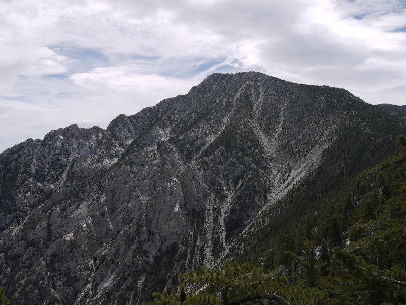 The north face of San Jacinto Peak is 1.25 miles to the northeast.