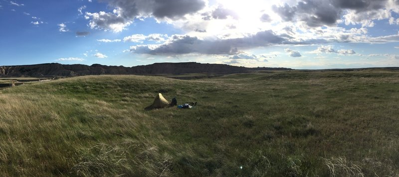 The Sage Creek Basin provides plenty of beautiful spots to camp.