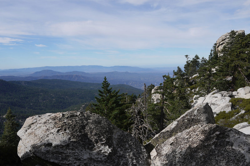 Enjoy a beautiful Black Mountain (middle left) view from near Fuller Ridge.