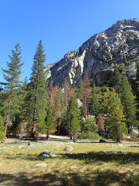 The Bubbs Creek Trail offers beautiful rocky views.