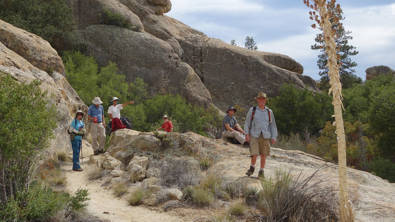 Monday Maniacs take a break on the Warner Springs section of the PCT.