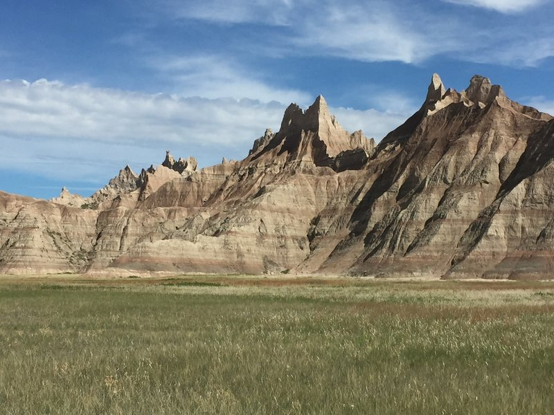 Badlands formations strike awe in the hearts of their visitors.