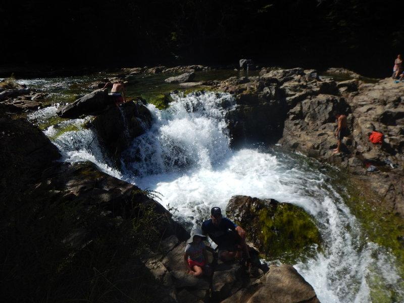 Hermoso Falls is quite beautiful.