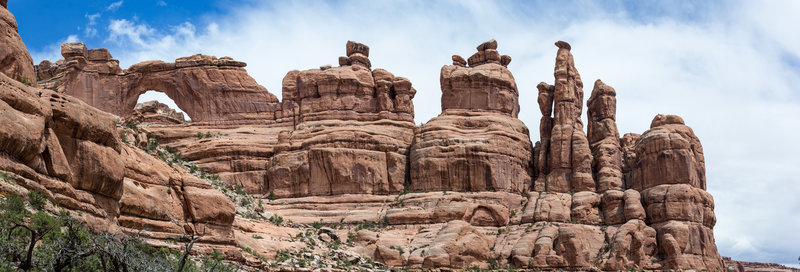 This is a panoramic view of Nevills Arch.