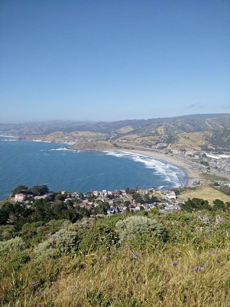 Pacifica Beach is beautiful from the Pedro Point Highlands.