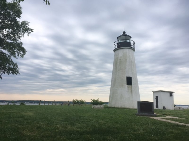Enjoy a pleasant maritime view from the Turkey Point Lighthouse Trail.
