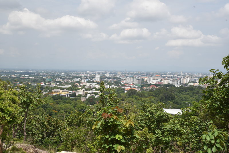 Enjoy a pleasant view of Chiang Mai from the trail.
