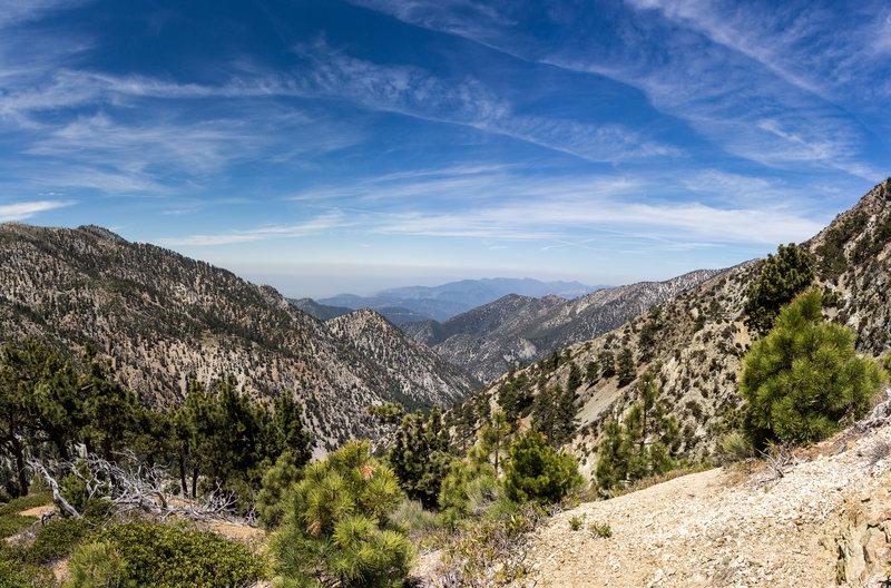 Ascending to Telegraph Peak, looking west.