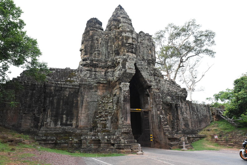 South Gate (looking south) of Angkor Thom.