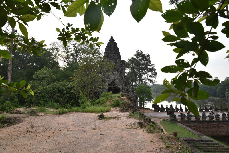 South Gate (looking east) of Angkor Thom