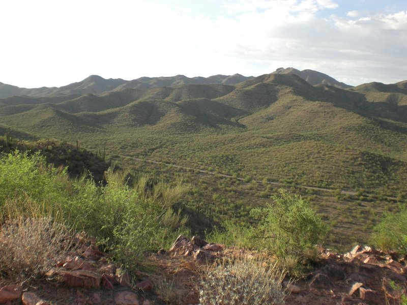 The Tucson Mountains from the Brown Mountain Trail.