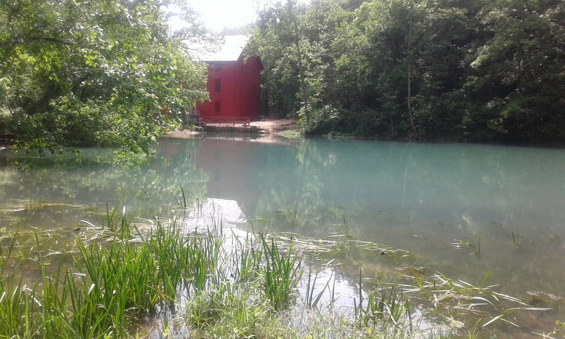 A return to Alley Spring brings views of the beautiful old mill.